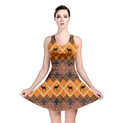 Traditiona  Patterns And African Patterns Reversible Skater Dress