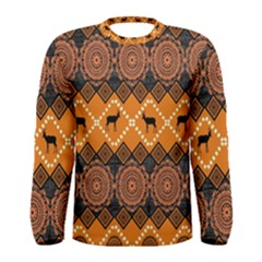 Traditiona  Patterns And African Patterns Men s Long Sleeve Tee