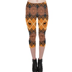 Traditiona  Patterns And African Patterns Capri Leggings