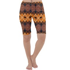 Traditiona  Patterns And African Patterns Cropped Leggings
