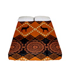 Traditiona  Patterns And African Patterns Fitted Sheet (Full/ Double Size)