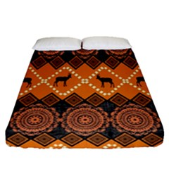 Traditiona  Patterns And African Patterns Fitted Sheet (Queen Size)