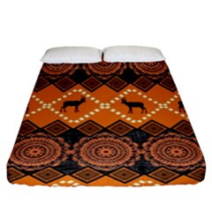 Traditiona  Patterns And African Patterns Fitted Sheet (King Size)