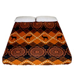 Traditiona  Patterns And African Patterns Fitted Sheet (California King Size)