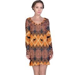 Traditiona  Patterns And African Patterns Long Sleeve Nightdress