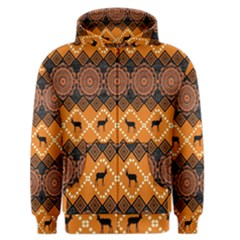 Traditiona  Patterns And African Patterns Men s Zipper Hoodie