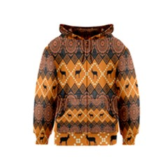 Traditiona  Patterns And African Patterns Kids  Zipper Hoodie