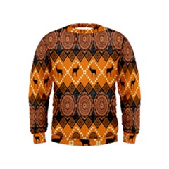 Traditiona  Patterns And African Patterns Kids  Sweatshirt