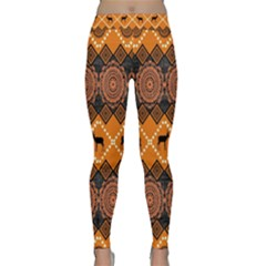 Traditiona  Patterns And African Patterns Classic Yoga Leggings