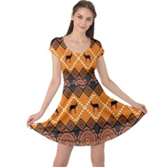 Traditiona  Patterns And African Patterns Cap Sleeve Dresses