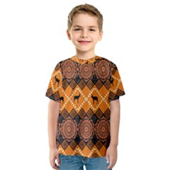 Traditiona  Patterns And African Patterns Kids  Sport Mesh Tee