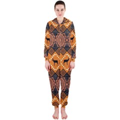 Traditiona  Patterns And African Patterns Hooded Jumpsuit (Ladies)