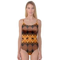 Traditiona  Patterns And African Patterns Camisole Leotard