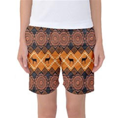 Traditiona  Patterns And African Patterns Women s Basketball Shorts