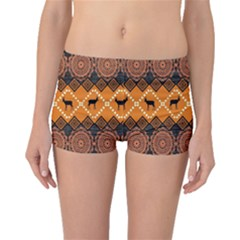 Traditiona  Patterns And African Patterns Boyleg Bikini Bottoms