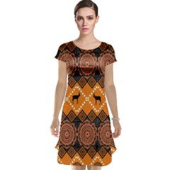 Traditiona  Patterns And African Patterns Cap Sleeve Nightdress
