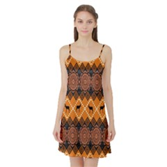 Traditiona  Patterns And African Patterns Satin Night Slip