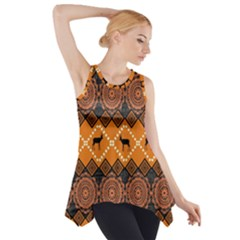 Traditiona  Patterns And African Patterns Side Drop Tank Tunic