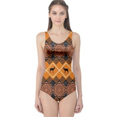 Traditiona  Patterns And African Patterns One Piece Swimsuit
