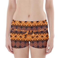 Traditiona  Patterns And African Patterns Boyleg Bikini Wrap Bottoms