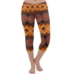 Traditiona  Patterns And African Patterns Capri Yoga Leggings