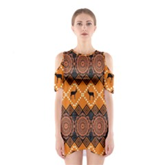Traditiona  Patterns And African Patterns Shoulder Cutout One Piece