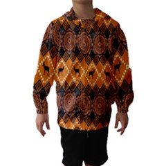 Traditiona  Patterns And African Patterns Hooded Wind Breaker (Kids)