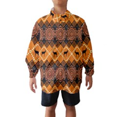 Traditiona  Patterns And African Patterns Wind Breaker (Kids)
