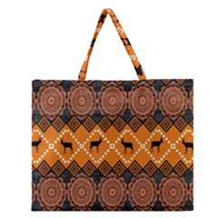 Traditiona  Patterns And African Patterns Zipper Large Tote Bag