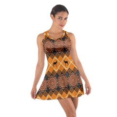 Traditiona  Patterns And African Patterns Cotton Racerback Dress