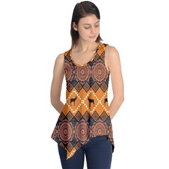 Traditiona  Patterns And African Patterns Sleeveless Tunic