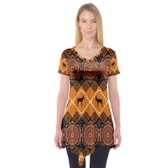 Traditiona  Patterns And African Patterns Short Sleeve Tunic