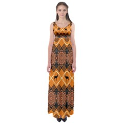 Traditiona  Patterns And African Patterns Empire Waist Maxi Dress
