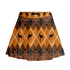 Traditiona  Patterns And African Patterns Mini Flare Skirt