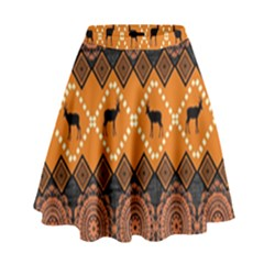 Traditiona  Patterns And African Patterns High Waist Skirt