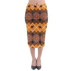 Traditiona  Patterns And African Patterns Midi Pencil Skirt