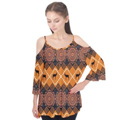 Traditiona  Patterns And African Patterns Flutter Tees