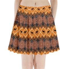 Traditiona  Patterns And African Patterns Pleated Mini Skirt