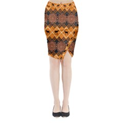 Traditiona  Patterns And African Patterns Midi Wrap Pencil Skirt