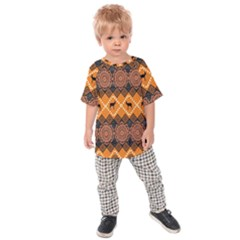 Traditiona  Patterns And African Patterns Kids  Raglan Tee