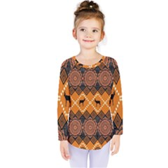 Traditiona  Patterns And African Patterns Kids  Long Sleeve Tee