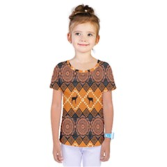 Traditiona  Patterns And African Patterns Kids  One Piece Tee