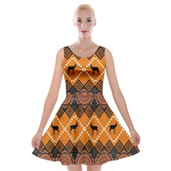 Traditiona  Patterns And African Patterns Velvet Skater Dress