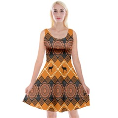 Traditiona  Patterns And African Patterns Reversible Velvet Sleeveless Dress