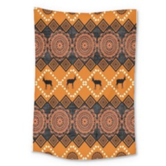 Traditiona  Patterns And African Patterns Large Tapestry