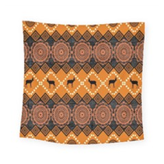 Traditiona  Patterns And African Patterns Square Tapestry (small)