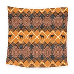 Traditiona  Patterns And African Patterns Square Tapestry (Large)