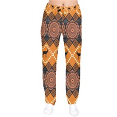 Traditiona  Patterns And African Patterns Drawstring Pants