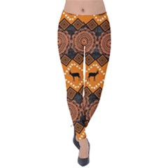 Traditiona  Patterns And African Patterns Velvet Leggings