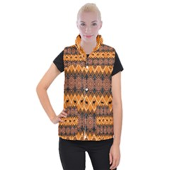 Traditiona  Patterns And African Patterns Women s Button Up Puffer Vest